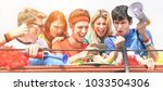 happy supporters from different ...   Shutterstock . vector #1033504306