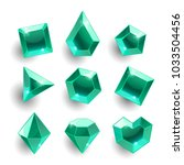 gems set. cartoon green ... | Shutterstock .eps vector #1033504456