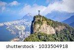 Small photo of Aerial view of Rio de Janeiro city skyline in Brazil