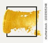 gold hand drawn paint brush... | Shutterstock .eps vector #1033505248