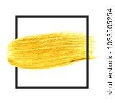 gold hand drawn paint brush... | Shutterstock .eps vector #1033505254