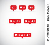 like  follower  comment icons.... | Shutterstock .eps vector #1033505284