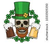 the skull of saint patrick's... | Shutterstock .eps vector #1033505350