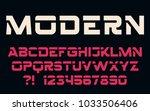 geometric technology font... | Shutterstock .eps vector #1033506406