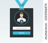 vector login form in badge