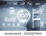 creative digital interface on... | Shutterstock . vector #1033507444