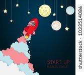 paper art of space shuttle... | Shutterstock .eps vector #1033514086