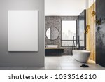 contemporary bathroom interior... | Shutterstock . vector #1033516210