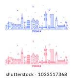 stockholm skyline  sweden. this ...   Shutterstock .eps vector #1033517368