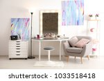 interior of modern makeup room | Shutterstock . vector #1033518418