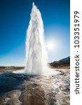 Geyser Erruption. Iceland