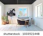 modern bathroom interior. 3d... | Shutterstock . vector #1033521448
