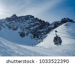 ski lifts to shymbulak ski... | Shutterstock . vector #1033522390