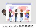 data analysis conceptual... | Shutterstock .eps vector #1033523230