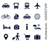 travel icon set. vector isolaed ... | Shutterstock .eps vector #1033527199
