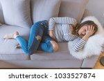 young beautiful woman having... | Shutterstock . vector #1033527874