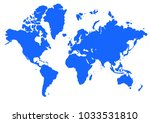 map world illustration | Shutterstock . vector #1033531810