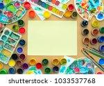 decorative composition frame... | Shutterstock . vector #1033537768