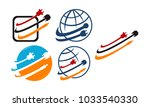 world computer cable set | Shutterstock .eps vector #1033540330