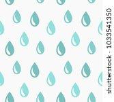 rain drops seamless pattern.... | Shutterstock .eps vector #1033541350
