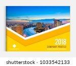 business brochure cover design... | Shutterstock .eps vector #1033542133