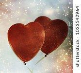 heart balloon background | Shutterstock . vector #1033542964