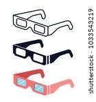total solar eclipse glasses.... | Shutterstock .eps vector #1033543219
