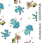 hand drawn pattern and... | Shutterstock .eps vector #1033545928