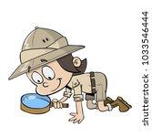 explorer kid looking for...   Shutterstock .eps vector #1033546444