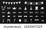 photobooth party icons   big... | Shutterstock .eps vector #1033547329
