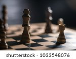 chess on chessboard close up | Shutterstock . vector #1033548076