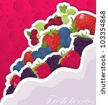 different fresh berries in... | Shutterstock .eps vector #103354868