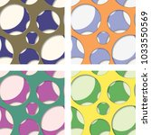 set of four seamless patterns... | Shutterstock .eps vector #1033550569