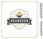 grill restaurant logo vector... | Shutterstock .eps vector #1033552390