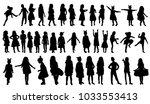 isolated  silhouette children... | Shutterstock .eps vector #1033553413