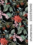 tropical exotic pattern with... | Shutterstock .eps vector #1033556440