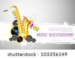 illustration of saxophone and... | Shutterstock .eps vector #103356149