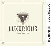 ornament monogram logo design... | Shutterstock .eps vector #1033562290