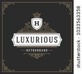 ornament logo design template... | Shutterstock .eps vector #1033563358