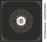 ornament monogram logo design... | Shutterstock .eps vector #1033563364