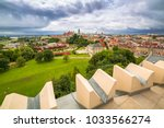 architecture of the old town in ... | Shutterstock . vector #1033566274