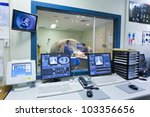 mri machine and screens with... | Shutterstock . vector #103356656