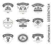 motorcycles logos templates... | Shutterstock .eps vector #1033567414