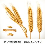 ears of wheat. 3d vector icon... | Shutterstock .eps vector #1033567750