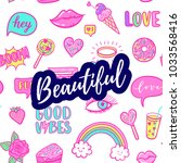 beautiful greeting card ... | Shutterstock .eps vector #1033568416