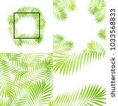 summer green tropical palm tree ... | Shutterstock .eps vector #1033568833