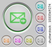 mail forwarding color icons on... | Shutterstock .eps vector #1033569274