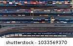 Cargo Trains And Containers At...