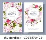 vector vintage floral banners... | Shutterstock .eps vector #1033570423