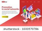 promotion in social networks....   Shutterstock .eps vector #1033570786